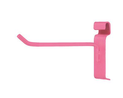 50 6 Wire Grid Slat Hooks Hot Pink Peg Retail Display 6mm Tubing Metal Pegs
