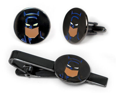 Batman Cufflinks Justice League Tie Clip Superhero Wedding Cuff Links Groomsman (Superhero Wedding)