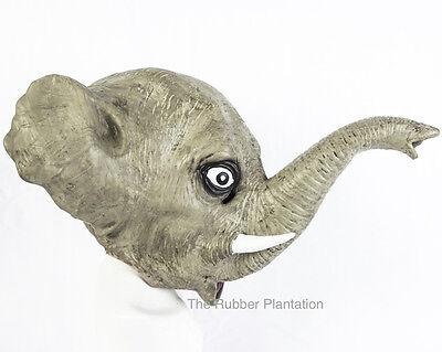 Elefant Maske Voll Kopf Latex Tier Kostüm Halloween Zoo Safari Kostüm