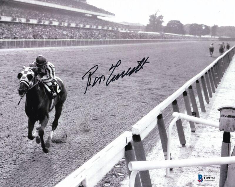 Ron Turcotte Signed 8x10 Secretariat 1973 Belmont Stakes Horse Racing Photo BAS