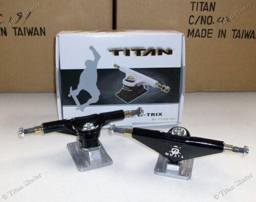 BLEMISHED TITAN TI-TRIX 5.0 Skateboard Trucks (1 Pair) SKULL & CROSSBONES Logo!