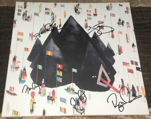 YOUNG THE GIANT SIGNED AUTOGRAPH HOME OF THE STRANGE VINYL ALBUM w/EXACT PROOF