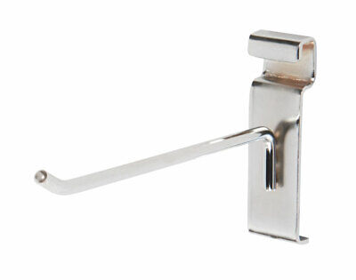 6 Inch Chrome Peg Hook For Wire Grid Or Grid Wall - 50 Count