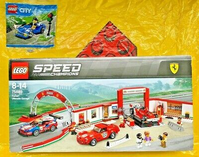 LEGO Speed Champions 75889 Ferrari Garage (sealed; some box scuffs) + FREE BONUS