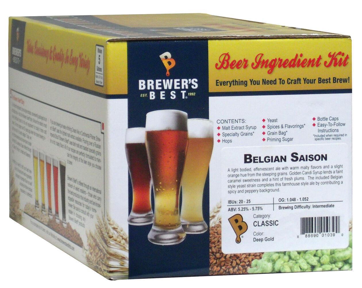$35.45 - Brewer's Best 5 Gallon Beer Making Recipe Kit - Belgian Saison