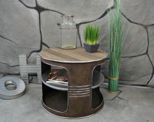 Couchtisch Beistelltisch Metall Ölfass Vintage Industrie Look LOFT Shabby LV5022