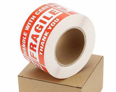 500roll Fragile Stickers 3x5 Handle With Care Thank You Shipping Warning Labels