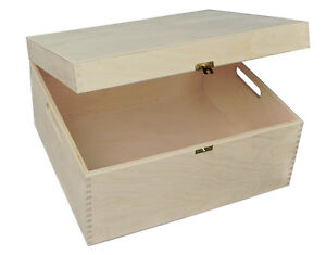 BIG-PLAIN-WOOD-KEEPSAKE-SOUVENIRS-MEMORY-BOX-CRAFT-P375