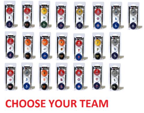 Offically Licensed MLB 3 Pack Golf Balls Team Color Choose Y