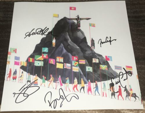 YOUNG THE GIANT SIGNED AUTOGRAPH HOME OF THE STRANGE ALBUM INSERT w/EXACT PROOF