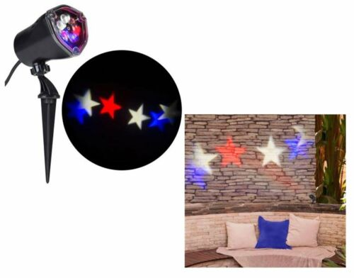 Americana Patriotic Projection LED Light Whirl Motion  Stars Red/White/Blue NEW!