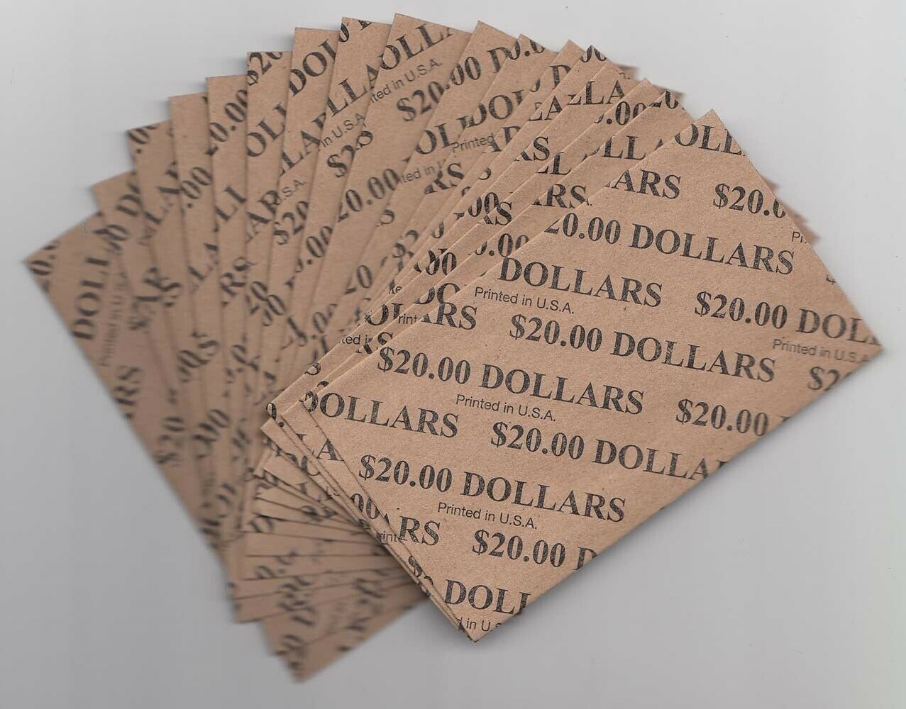Heavy Duty Flat Coin Wrappers Half US Dollar $ Size Box of 100 Pop Easy Filling