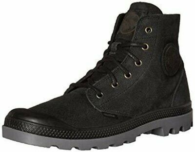 NIB PALLADIUM Pampa Hi SDE UL Men's Black/Steeple Grey Suede Ankle Hiking Boots