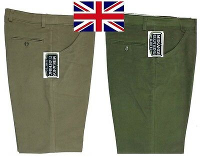 British UK Mens Moleskin 100% Cotton Trousers Outdoor | All Sizes & Leg Lengths!