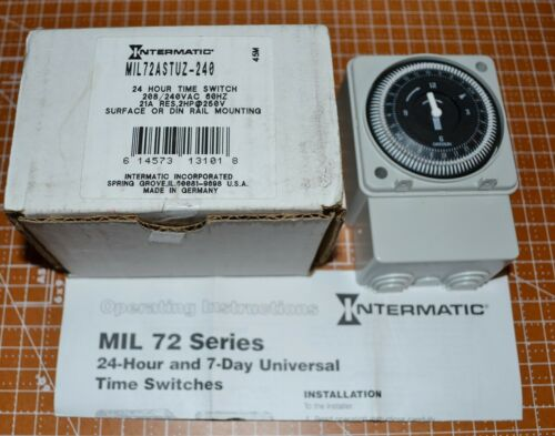 INTERMATIC Electromechanical Timer, 24-Hour, 208/240VAC MIL72ASTUZ-240