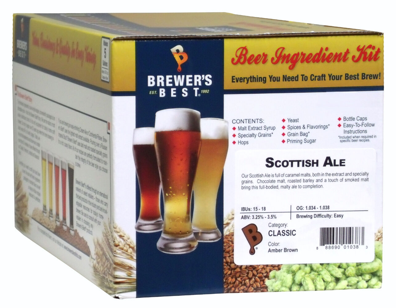 $26.95 - Brewer's Best 5 Gallon Beer Making Ingredient Kit - Scottish Ale