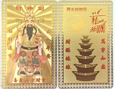 Feng Shui God of Wealth Amulet Card Increase The Wealth, Bring Lucky