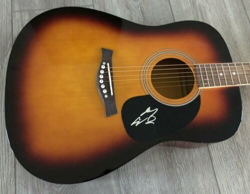 "MORGAN WALLEN SIGNED AUTOGRAPH 41"" FULL SIZE ACOUSTIC GUITAR B w/PROOF"