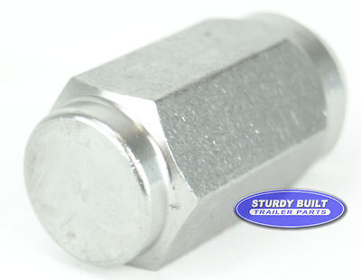 (20)- Boat Trailer SOLID STAINLESS STEEL Trailer Lug Nuts 1/2-20 Thread