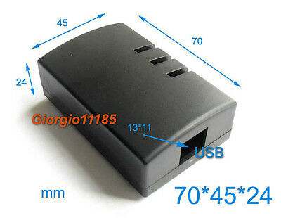 Us Stock 2pcs Plastic Project Box Electronic Enclosure Case Diy 70 X 45 X 24mm