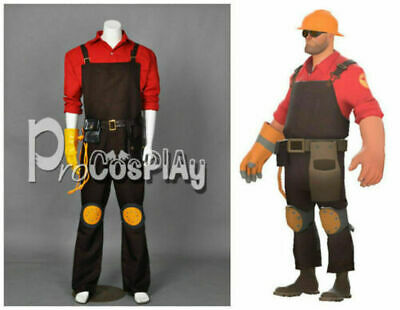 Team Fortress 2 Red Engineer Cosplay Costume {Free shipping}