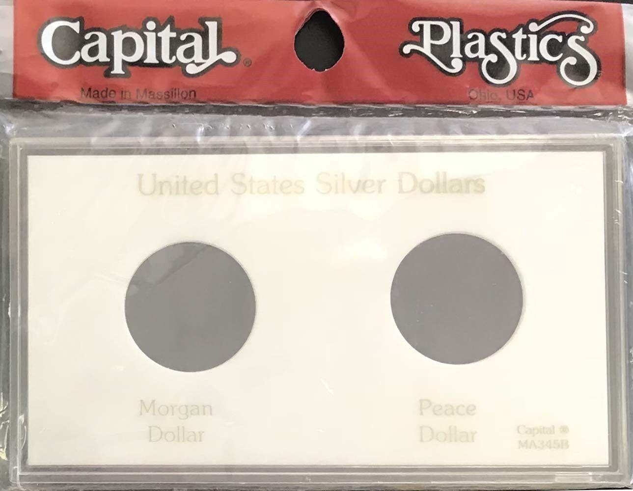 Capital Holder For US Half Dollars 3 Holes No Dates Quality Meteor Snaplock Case