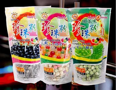 3 Pack Combo Tapioca Pearls Boba Bubble Tea Wufuyuan Ready In 5 Minutes 8 8 Oz