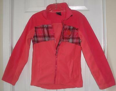 NWT US Polo Assn Girls Pink Zip Up L/S Winter Performance Fleece Top L 14/16 Girls L/s Polo