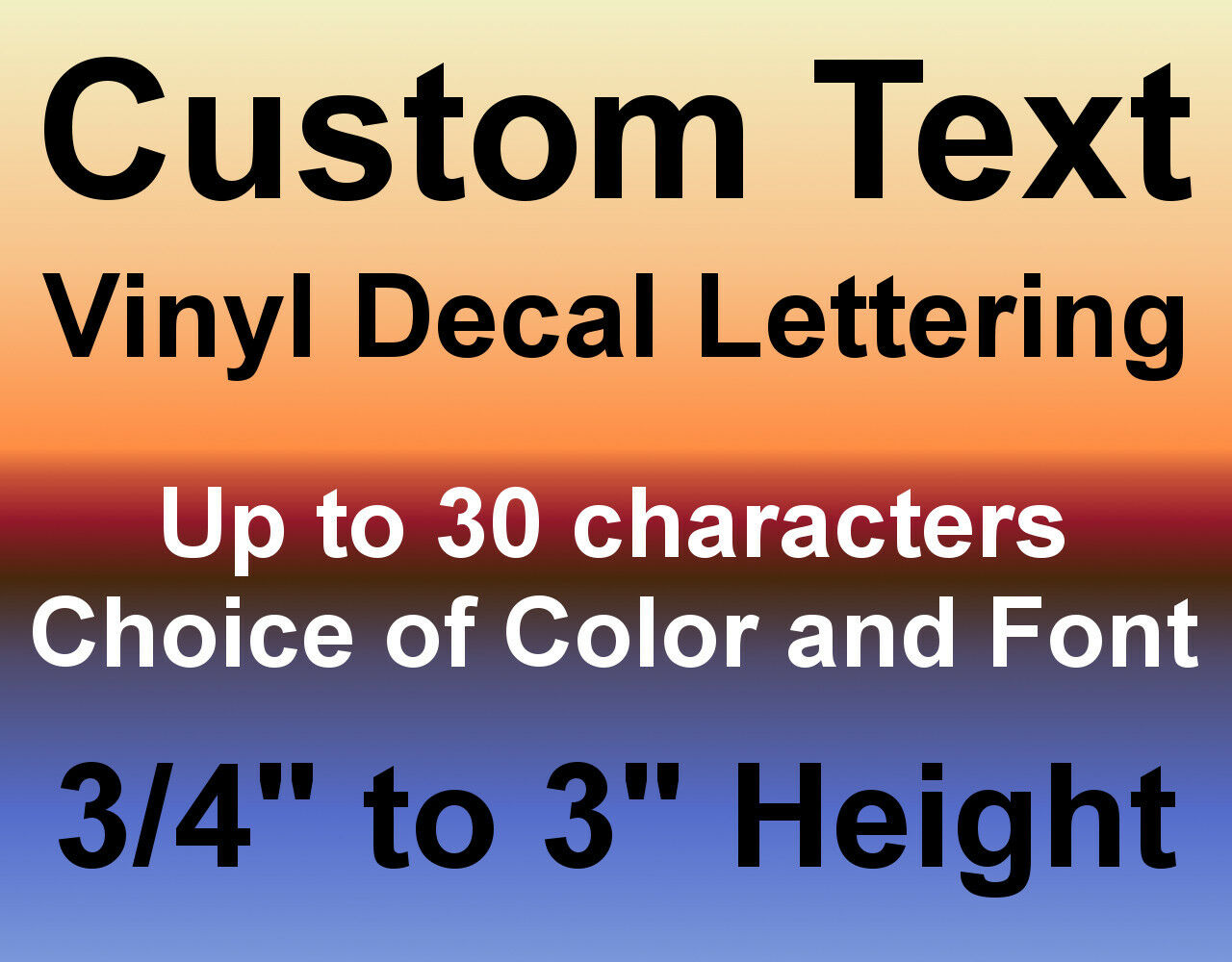Home Decoration - Custom Vinyl Decals Text Letters Numbers Personalized Stickers Car Window Home