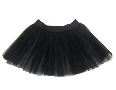 Kid's Halloween Black 3 Layer Tutu Skirt Fancy Dress Costume Size S/M - M/L