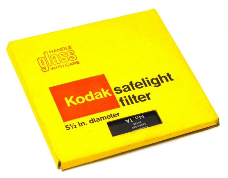 "KODAK 01A SAFELIGHT FILTER 5-1/2"" DIAMETER"