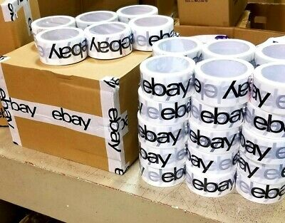 36 Rolls Official Ebay Brand Logo Black Packing Packaging Tape Shipping 2 X 75