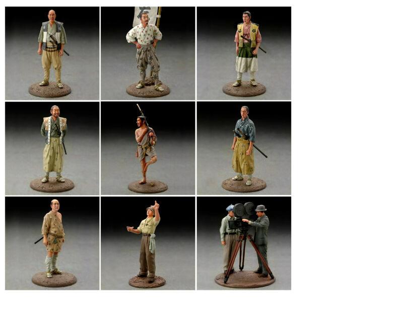 Akira Kurosawa Seven Samurai Complete 9 Figure Set  Import  (Color) US SELLER