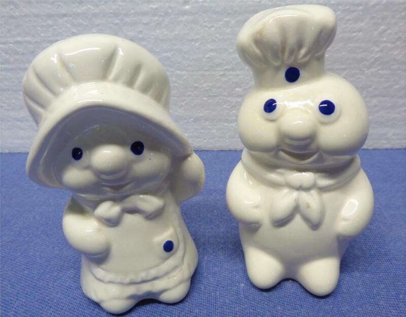 Pillsbury Doughboy & Poppin Fresh Salt & Pepper Shakers 1988