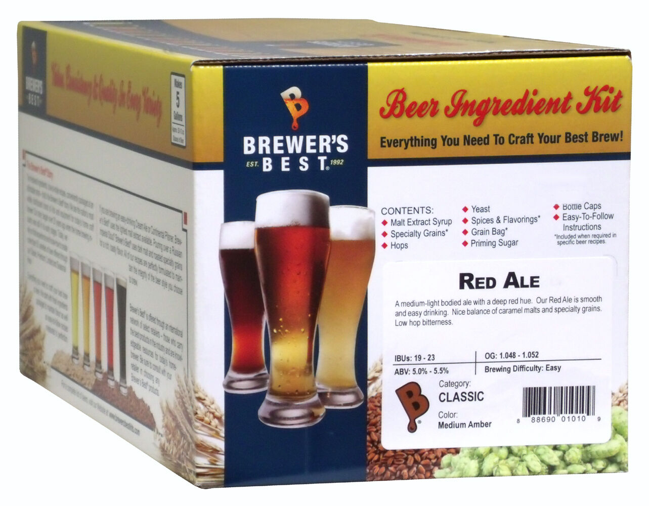 $31.95 - Brewer's Best 5 Gallon Beer Making Ingredient Kit - Red Ale