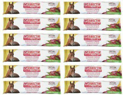 Durvet Apple Flavored Horse Wormer  Horse Bot Parasites Equine Wormer (x12)