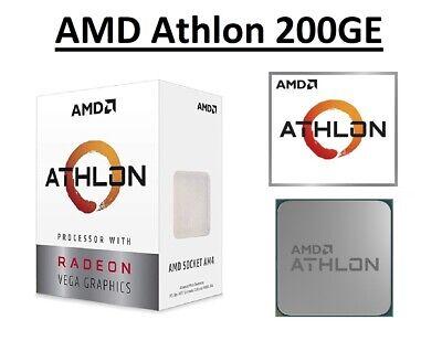 AMD Athlon 200GE Dual Core Processor 3.2 GHz,1MB Cache, Socket AM4, 35W...