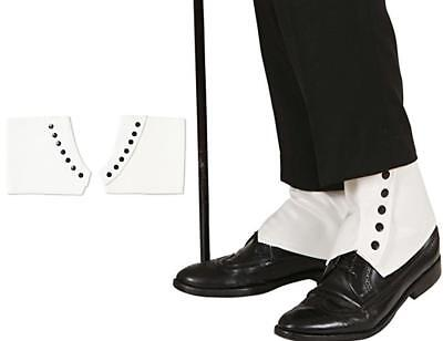 Faux Leather Look Spats Shoe Cover Gangster 1920's Bugsy Gatsby Spatz Tap Smart