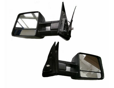 For 07-19 Toyota Tundra Tow Mirror Power Heated Smoked Lens LED Signal (Mirror Lense)