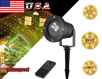 Outdoor LED Christmas House Laser Projector Lights Xmas Part