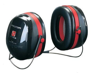 3m Peltor Optime Iii Ear Defenders Neckband Snr35db Black Lightweight