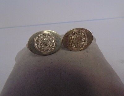 .925 Sterling Silver Vintage Diamond Cut Men's Cuff Links-Estate Jewelry #DJ2083