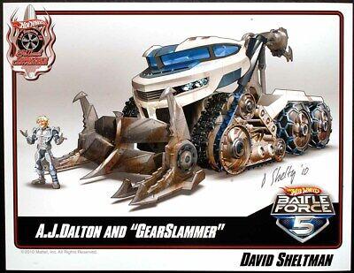 Hotwheels convention exclusive Battleforce 5 Gearslammer esheet Signed