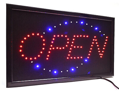 Large High Visible Led Light Business Classic Open Sign Chain Switch 21.5x13