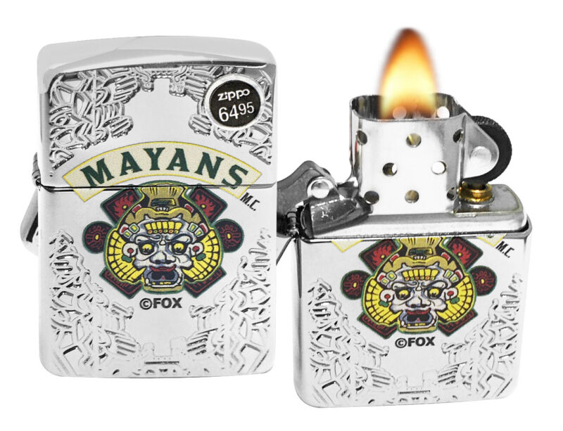 Zippo 49032 Mayans M.C. High Polish Chrome Lighter New in Box