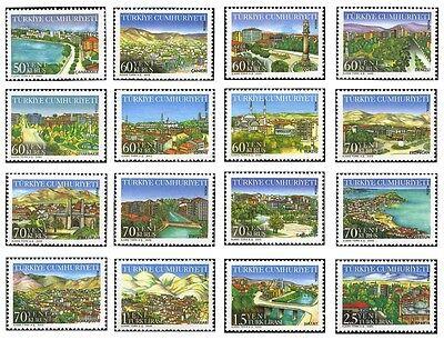 Definitive Postage Stamps - TURKEY 2005,  DEFINITIVE POSTAGE STAMPS, TURKISH PROVINCES - 2, MNH