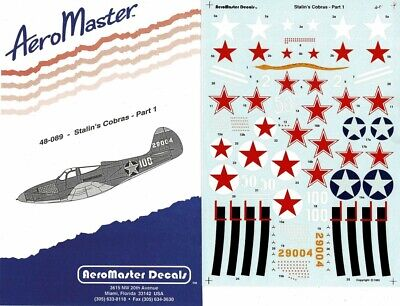 1/48 AEROMASTER DECALS 48-089; Stalin''s Cobras Part 1 Bell P-39 Airacobra