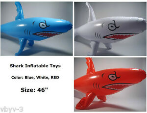SHARK-Fish-Sea-Animal-Jaw-Luau-Swim-INFLATABLE-Toy-Blow-Up-Party-Favor-Decor-46