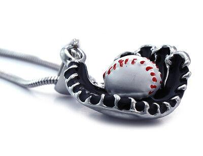 Baseball Black Glove Sports Charm Player Pendant Necklace Boy Girl Jewelry n2012 (Boy Necklaces)