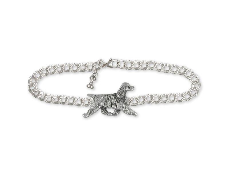 Springer Spaniel Bracelet Jewelry Sterling Silver Handmade Dog Bracelet SS8-B